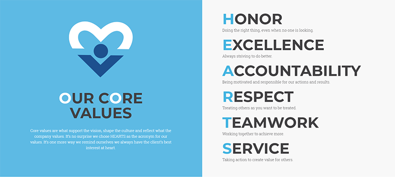 NSM core values graphic