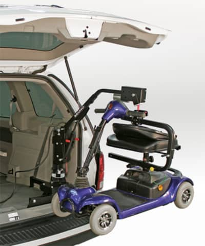 a wheelchair lifter on a vehicle