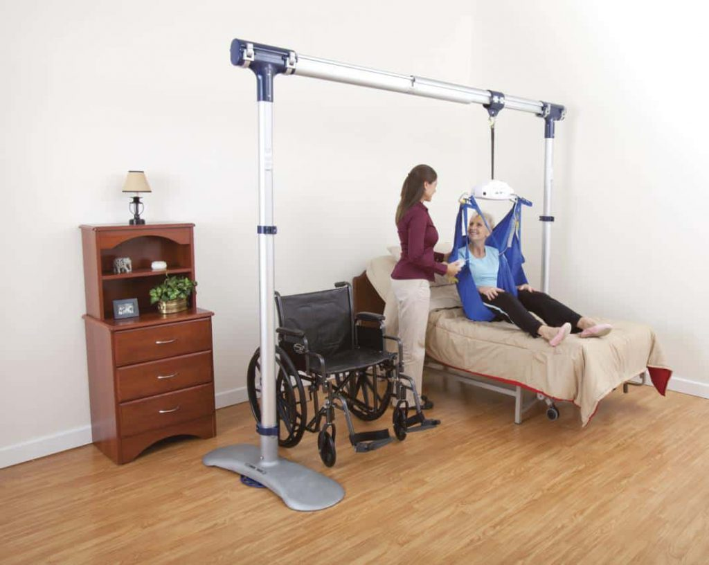 women using a bed lift system