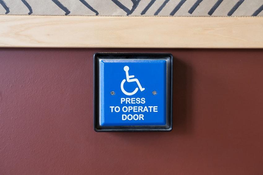 handicap door opener button