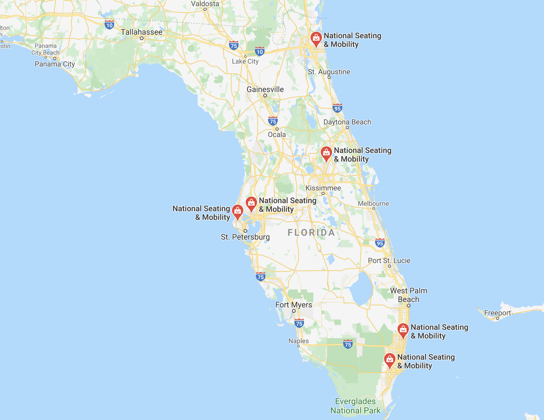 Map of NSM locations in Florida