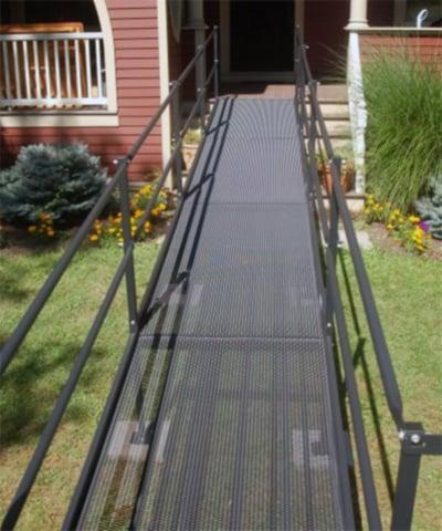 A black modular ramp