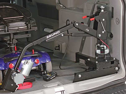 A lifter packed into a car