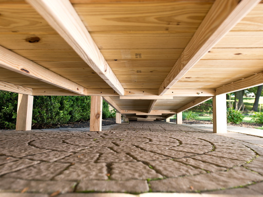 the base of the Wood Deck Ramp