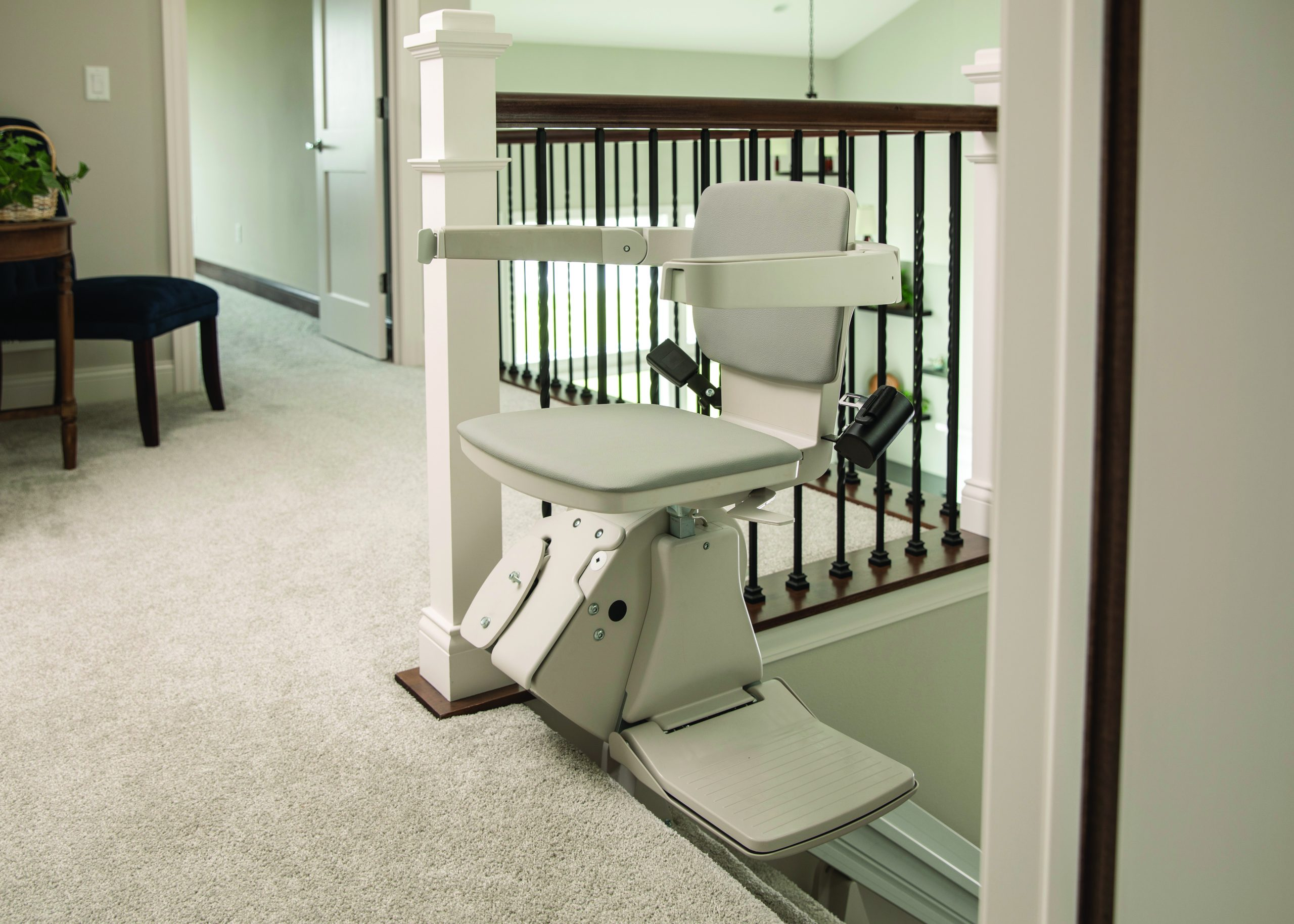 Bruno elan stair lift at top of stairs