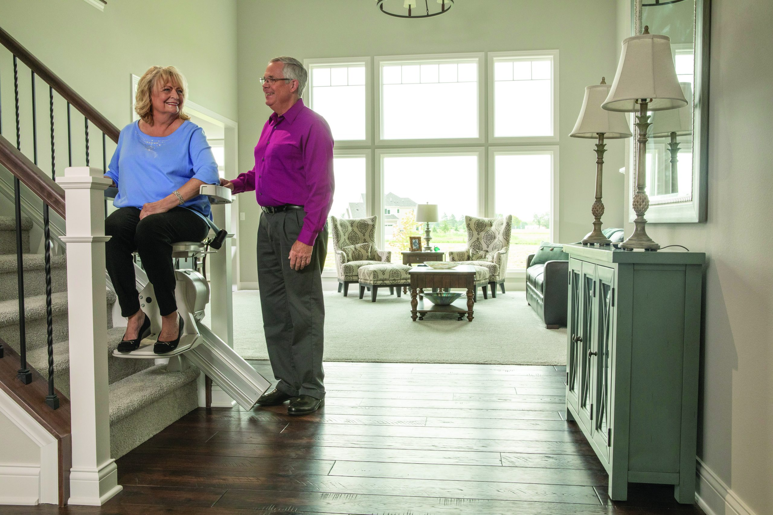 Bruno elan stair lift with couple