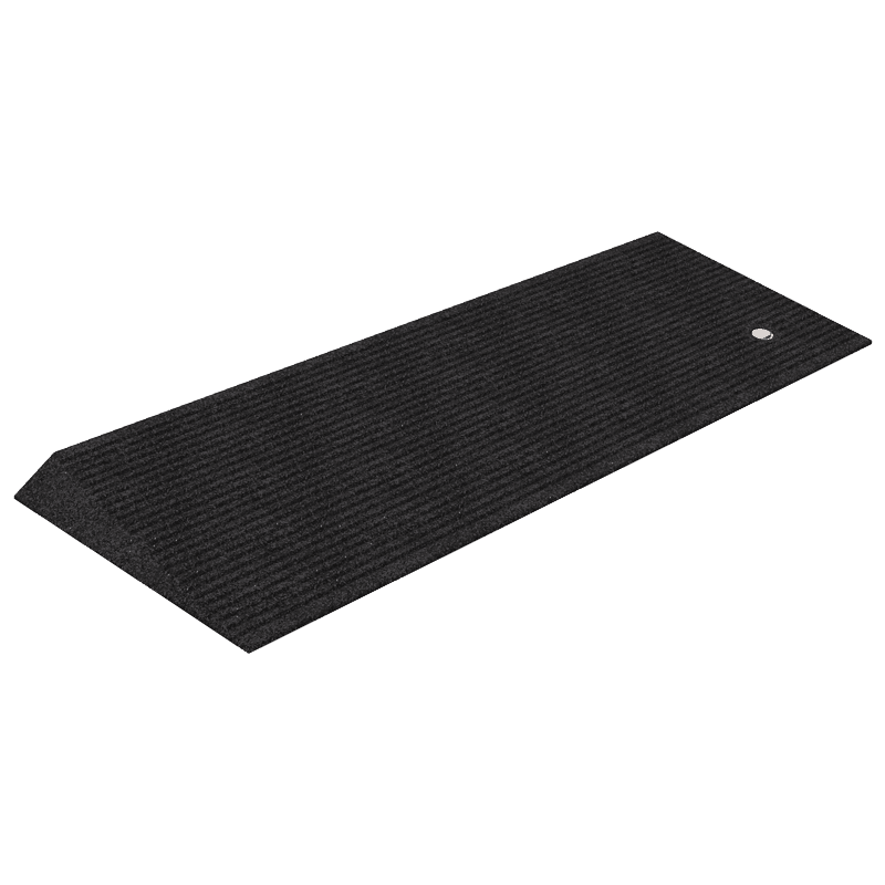 An angled entry mat